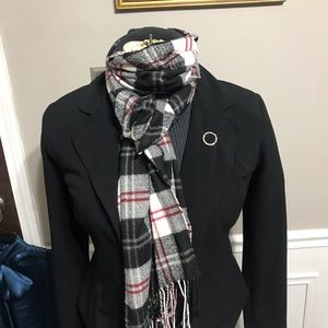 Classy Black and Red plaid scarf
